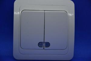 Выключатель 2кл СУ Форза 905024 с подсветкой