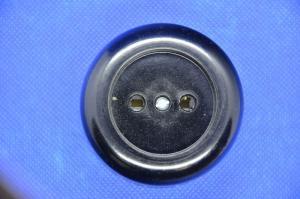 Розетка 1ая ОУ круглая черная  керамика