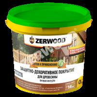 Защитно-декор. покрытие 0,9 кг. Белый Zerwood ZDP аквалазурь/12