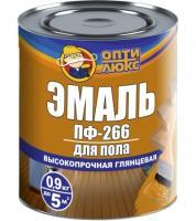 Эмаль  Зол-корич. 0,9 кг.ОПТИЛЮКС  д/пола. б/запаха.акриловая/12