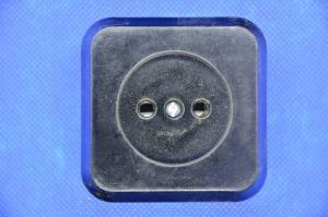 Розетка 1ая ОУ карболит. квадр.черная