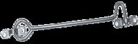 Крючок дверной ветровой КР-250 цинк/100*