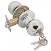 Замок ручка ASSOL  Хром круглая с ключом 204431