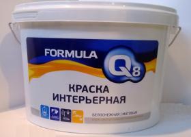 Краска  ВД интерьерная   FORMULA 1,5 кг*8