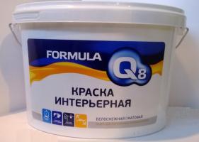 Краска  ВД интерьерная   FORMULA 3 кг*4