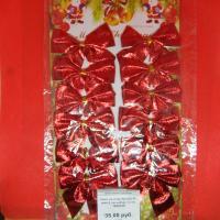 Бант на елку Красный шик 6 см набор 12 шт 1850140