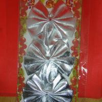 Бант на елку Серебренный шик 9 см   9*7  см набор 3шт 1850146