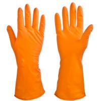 Перчатки резиновые спец. для уборке оранжевые М 447033
