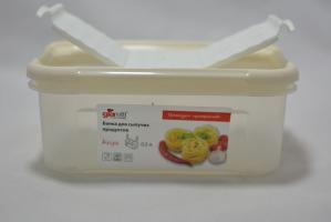 Банка для сыпучих продуктов с дозатором Krupa 0,5л сливочный крем