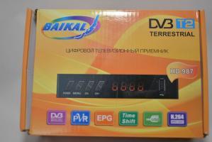 Ресивер эфирный цифровой DVB-T2 HD,  Т34 пластик, дисплей ВОССТАНОВЛЕННЫЙ