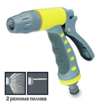 Пистолет распылитель для полива  с регулятором напора воды 160126