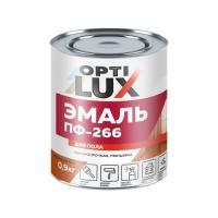 Эмаль  Жел-корич. 2,4 кг.ОПТИЛЮКС  д/пола. б/запаха.акриловая/4