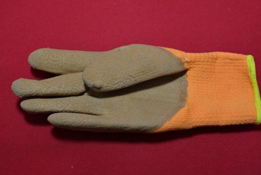 1Перчатки Торро с 1-м обливом /10/480/ вспененные утепленные оранжевые