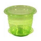 Кашпо для Орхидей  2 л , зеленый  пластик 1454 Мультипласт