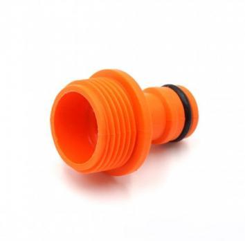 Соед, Адаптер 3/4 резьба пласмассовый  для шланга  арт. 34 оранжевый