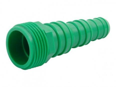 Соед. Ерш универсальный 1/2*3/4 резьба  пластик зеленый