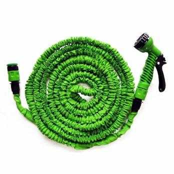 Шланг полив.растяг. 45 м латексный зеленый