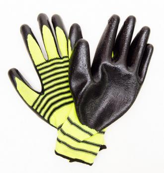 Перчатки Торро нейлоновые*12 желтые с черным
