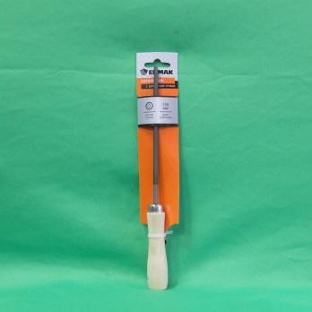 Напильник с дерев. ручкой круглый 150мм 645012