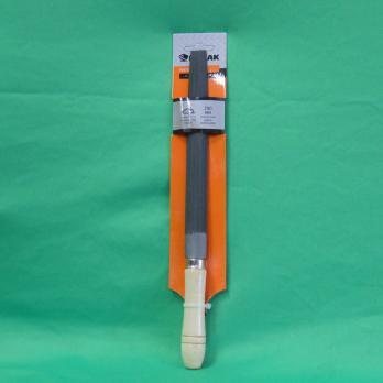 Напильник с дерев. ручкой п/круглый 200мм 645033