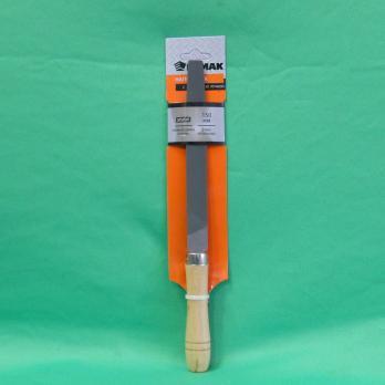 Напильник с дерев. ручкой п/круглый 300мм