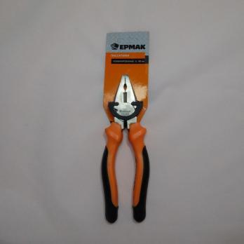 Пассатижи Ермак 180мм с двухцветной ручкой /6* 661241