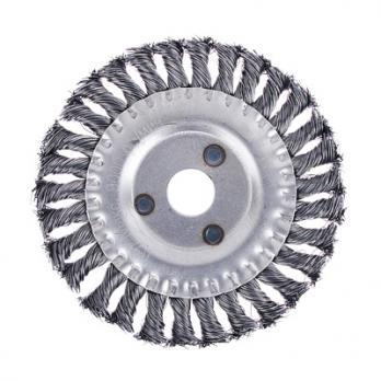 Щетка металл.  для УШМ 150мм/22мм 656051  крученная плоская