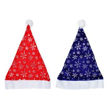 Колпак Деда Мороза с узором, плющ, 2 цвета 388031
