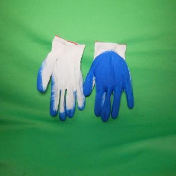 Перчатки нейлон с нитрилов покрытием СИНИЕ *12шт цена за упаковку